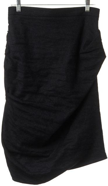 ALLSAINTS Charcoal Wool Louvre Asymmetrical Skirt