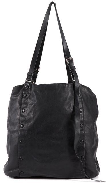 ALLSAINTS Black Leather Tote Shoulder Bag