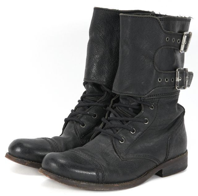 ALLSAINTS Black Leather Mid-Calf Boots