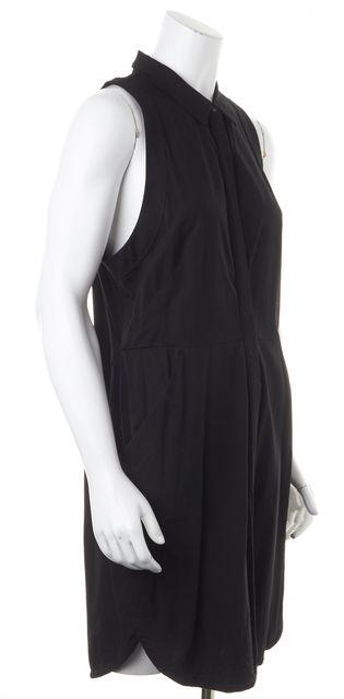 ALLSAINTS Black Mel Sleeveless Pocket Front Shirt Dress