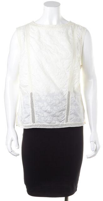 ALLSAINTS White Embroidered Sleeveless Blouse