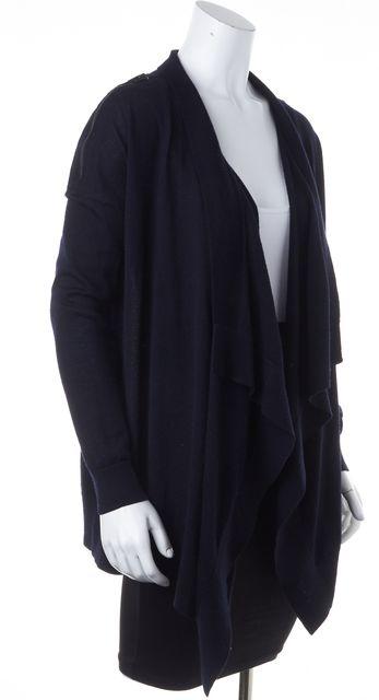 ALLSAINTS Black Shoulder Zippered Long Sleeve Cardigan