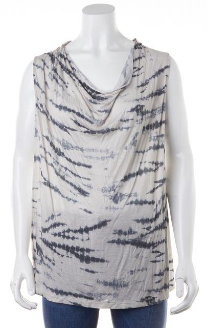 ALLSAINTS Stone Gray Blue Tie Dye Amei Sleeveless Basic T-Shirt