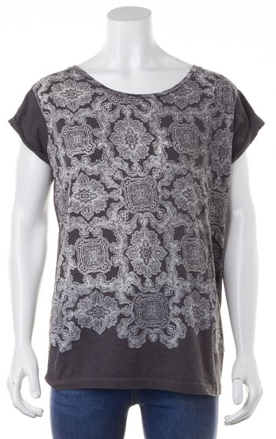 ALLSAINTS Gray Ornate Print T-Shirt