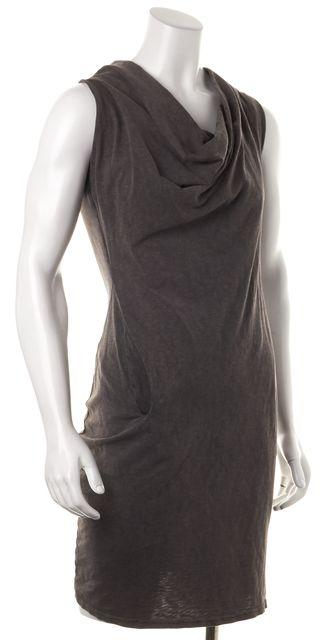 ALLSAINTS Gray Sleeveless Bodycon Knee-Length Casual Dress