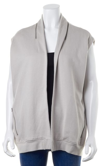 ALLSAINTS Gray Ava Sweat Zip Pocket Open Vest Jacket
