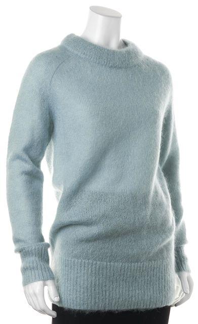 ALLSAINTS Ash Blue Mohair Quant Oversized Crewneck Sweater