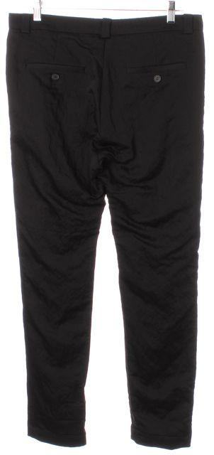 ALLSAINTS Black Slim Fit Cropped Casual Career Trousers Pants