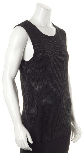 ALLSAINTS Black Embellished Knit Tank Top