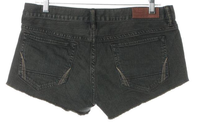 ALLSAINTS Gray Gunray Lowe Frayed Hem Stretch Cotton Denim Shorts