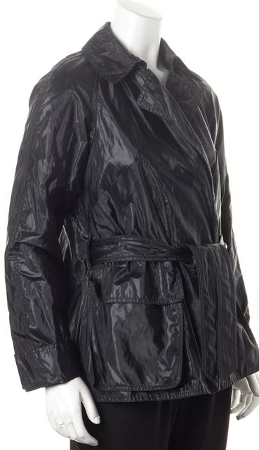 ALLSAINTS Black Belted Chelsea Mac Raincoat Jacket