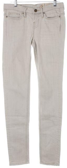 ALLSAINTS Gray Mid Rise Skinny Jeans