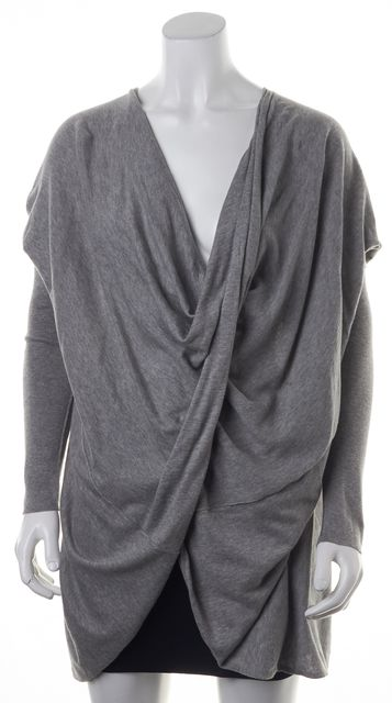 ALLSAINTS Gray Drape Sweater