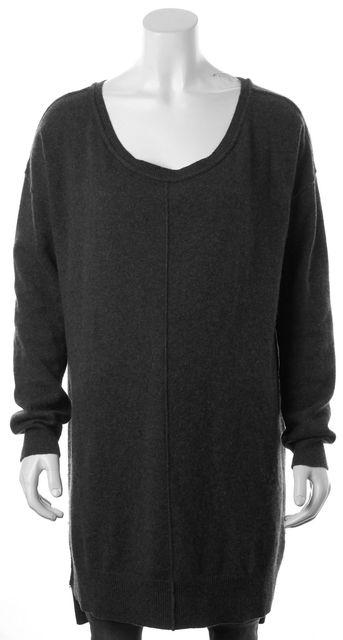 ALLSAINTS Gray Cashmere Char Jumper Scoop Neck Sweater