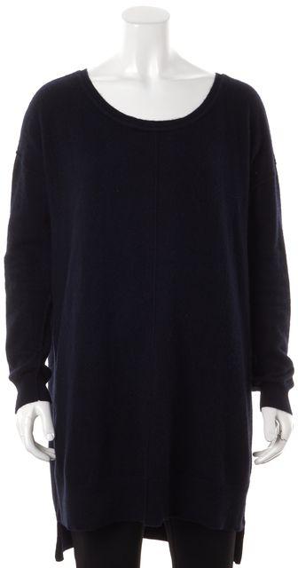 ALLSAINTS Navy Blue Cashmere Char Scoop Neck Sweater