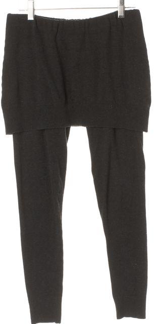 ALLSAINTS Gray Cotton Olica Skirt Overlay Leggings
