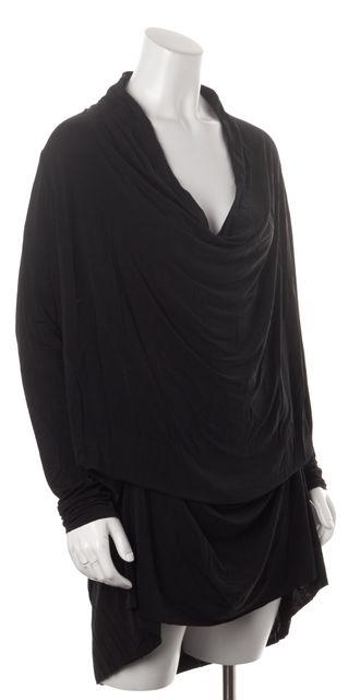 ALLSAINTS Black Amei Long Sleeve Cowl Neck Shift Dress
