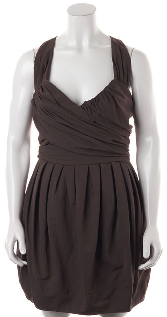 ALLSAINTS Olive Green Elliah Draped Above Knee Blouson Dress
