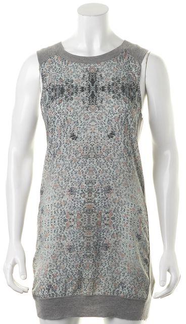 ALLSAINTS Gray Green Abstract Ditsy Tank Shift Dress