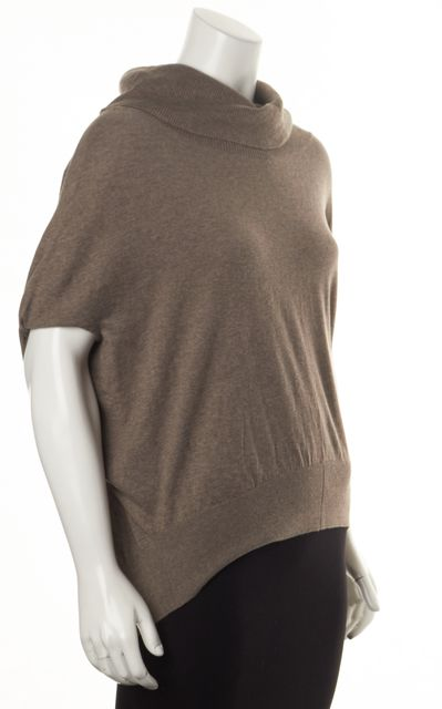 ALLSAINTS Brown Taupe Elis Cowl-Neck Oversized Thin Knit Top