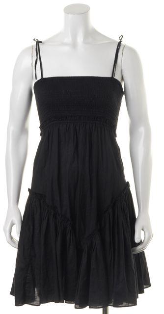 ALLSAINTS Black Ebony Spaghetti Strap Pleated Empire Waist Dress