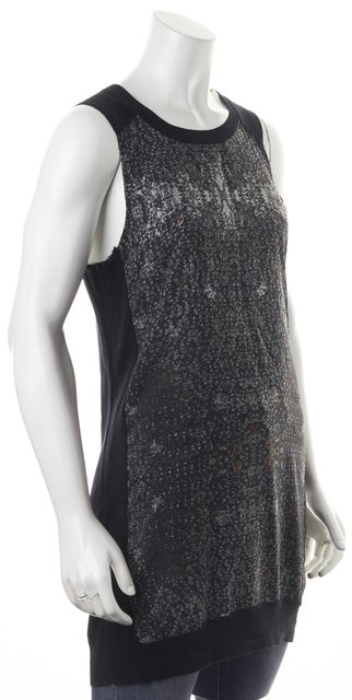 ALLSAINTS Blue Black Red Abstract Above Knee Ditsy Tank Dress