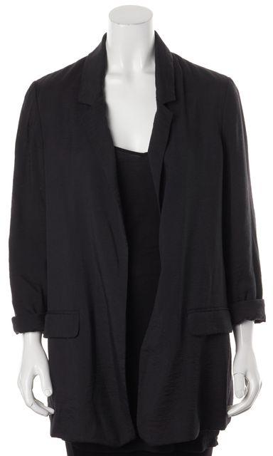 ALLSAINTS Black Obel Blazer Open Front Basic Jacket