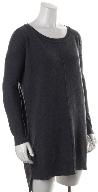 ALLSAINTS Gray Cashmere Long Sleeve Char Jumper Sweater Mini Dress