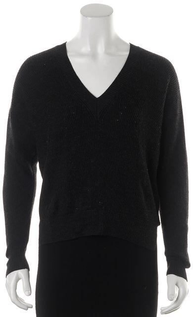 ALLSAINTS Black Wool V-Neck Sweater