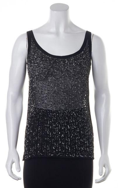 ALLSAINTS Black Silver Sequin Stipple Vest
