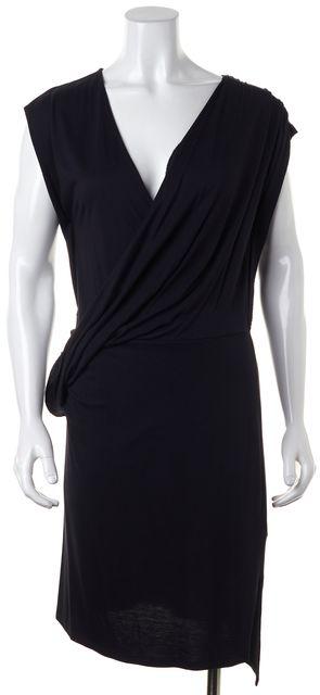 ALLSAINTS Black Sleeveless Draped Helix Sheath Dress