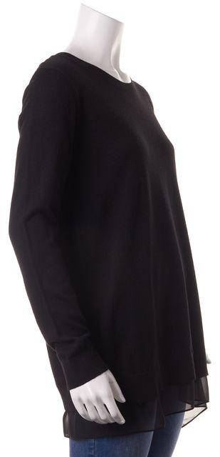 ALLSAINTS Black Wool Miro Knit Jumper Top