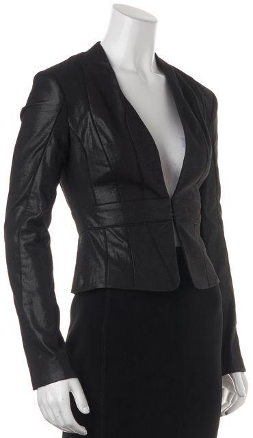 ALLSAINTS Black Basic Button Cuff Cotton Sadoul Jacket