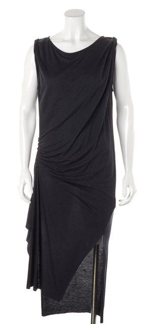 ALLSAINTS Gray Sleeveless Draped Flores Sheath Dress