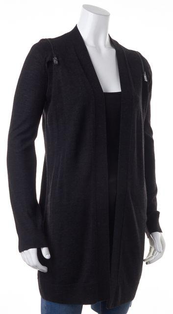 ALLSAINTS Gray Wool Dash Open Drape Cardigan Sweater Convertible Vest