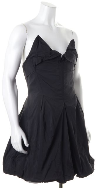 ALLSAINTS Black Strapless Above Knee Viola Corset Dress