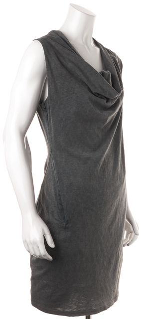 ALLSAINTS Gray Brogue Scoop Neck Sleeveless Sheath Dress