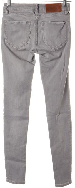 ALLSAINTS Trackwashed Gray Stretch Cotton Skinny Jeans