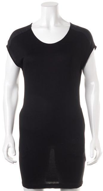 ALLSAINTS Black Cap Sleeve Celie T-Shirt Sheath Dress