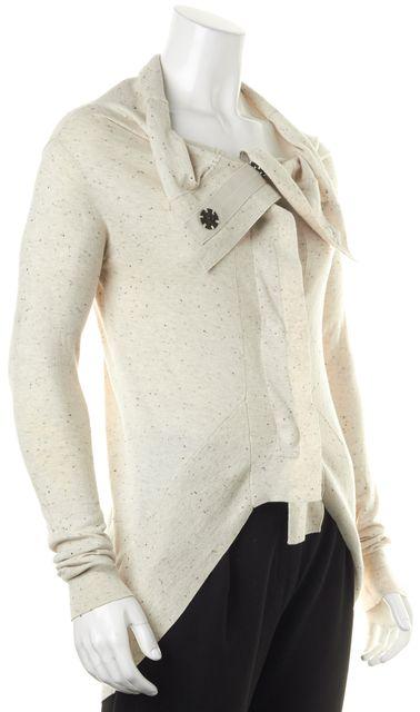 ALLSAINTS Gray Speckled Cotton Nep Escape Cardigan