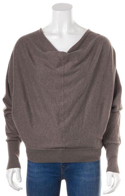 ALLSAINTS Brown Cotton Knit Elgar Cowl Neck Sweater