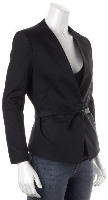 ALLSAINTS Black Sheer Back Panel Blazer Jacket