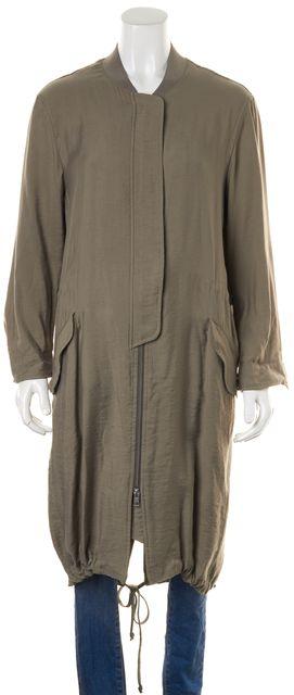 ALLSAINTS Beige Long Basic Drawstring Coat Jacket