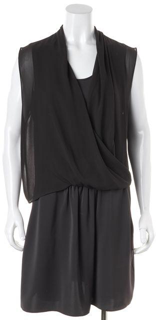 ALLSAINTS Green Sleeveless Polyester Two Pocket Crossover Blouson Dress