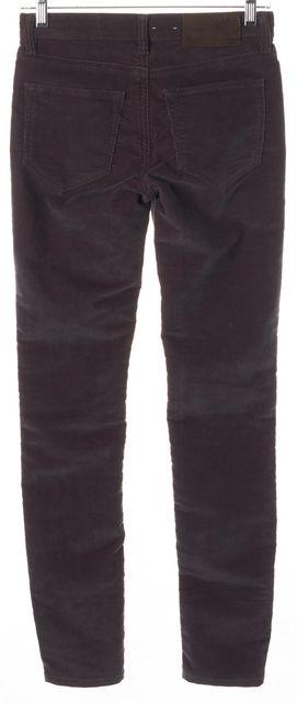 ALLSAINTS Purple Ashby Low Rise Skinny Fit Corduroys Pants