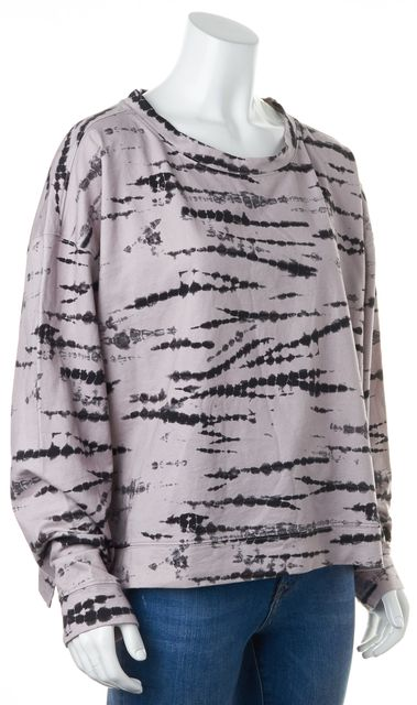 ALLSAINTS Purple Black Lo Tie Dye Cotton Crewneck Sweater