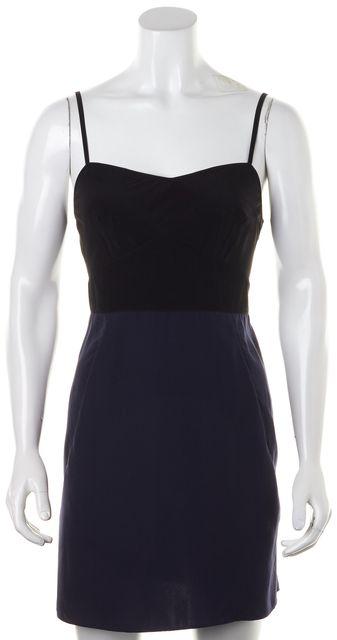ALLSAINTS Blue Black Color Block Blocked Slip Sheath Dress
