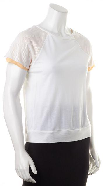 ALLSAINTS White Beige Perforated Short Sleeve Harlem T-Shirt