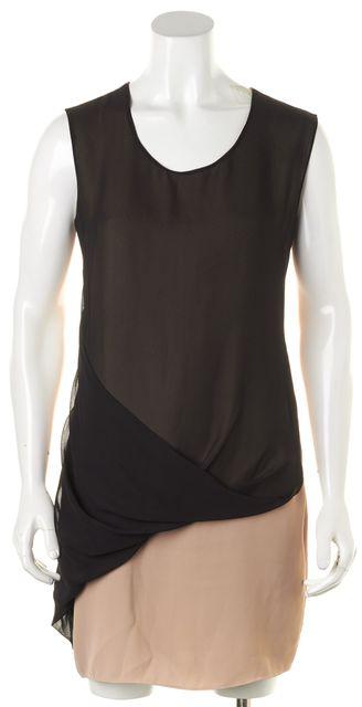 ALLSAINTS Black Beige Color Block Afia Shift Dress
