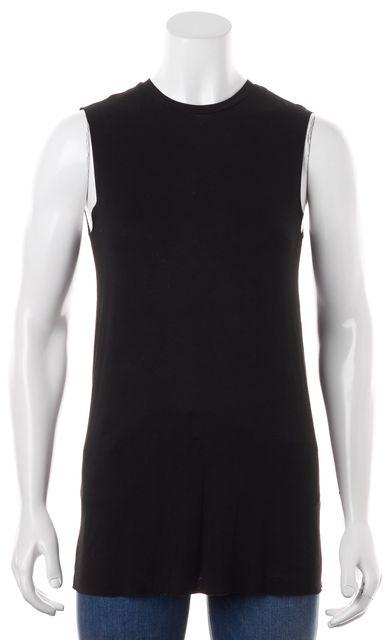 ALLSAINTS Black Solid Vasi Vest Sleeveless Basic T-Shirt